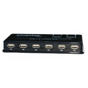 USB 2.0 10 Port Hub (with Power Adapter)