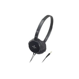 Audio Technica ATHES55BK On-Ear Headphones, Black