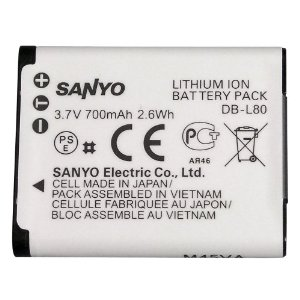 Sanyo DB-L80AU Rechargeable Lithium Ion Battery Sanyo Camcorders