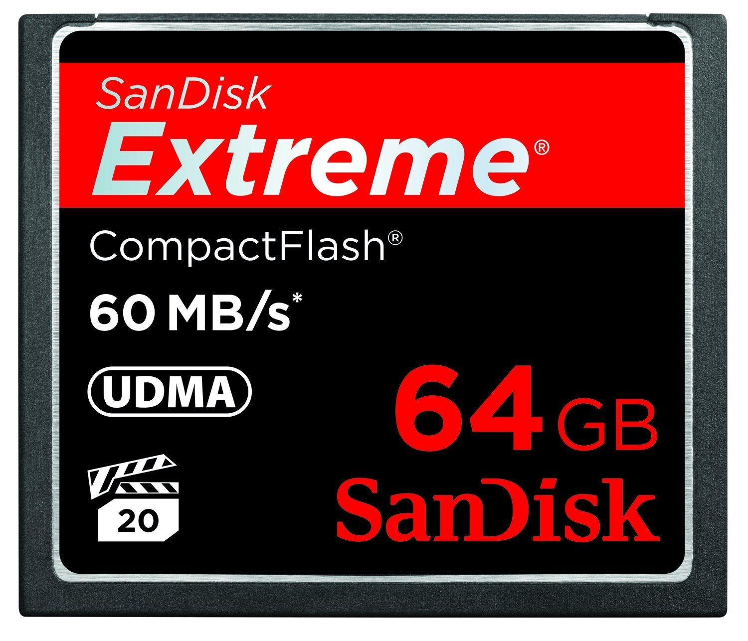 SanDisk Extreme CompactFlash 64 GB Memory Card 60MB/s SDCFX - 06