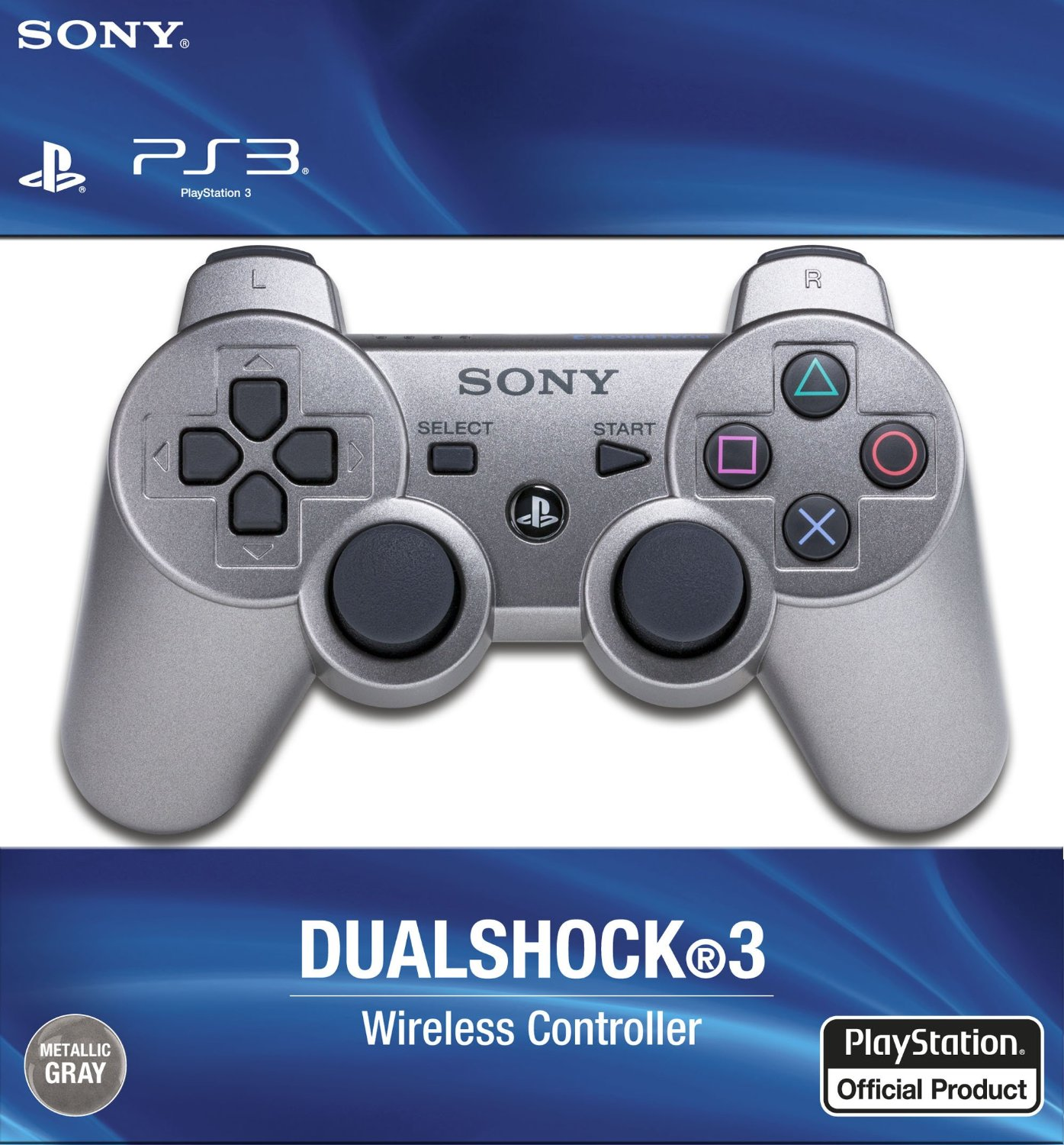 PlayStation 3 Dualshock 3 Wireless Controller Metallic Grey