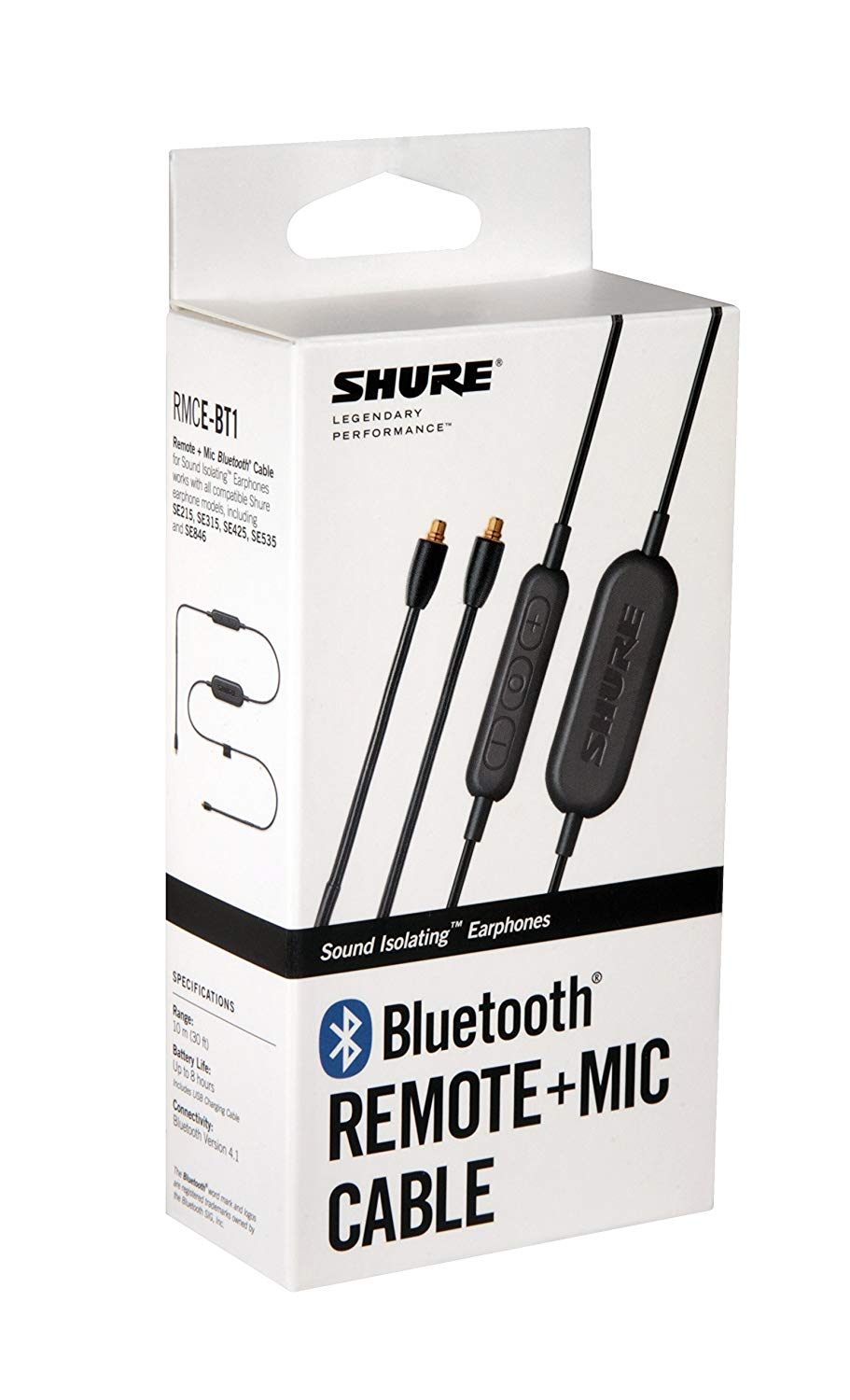 Shure RMCE-BT1 Bluetooth Enabled Accessory Cable with Remote + M